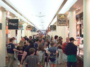 Quincy Market colonnade eateries