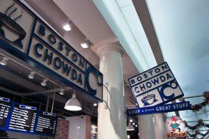 Boston Clam Chowder with lobster rolls