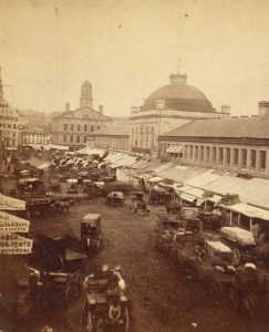 historic Faneuil Hall and Quincy Market